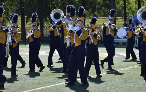 Last year, the Marching Colonels had 45 members and often performed at football, basketball and ice hockey games.