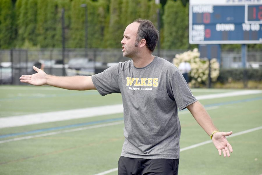 Head coach John McNichol questioned a call made during Wilkes' Sept. 7, 2019 contest against RIT.