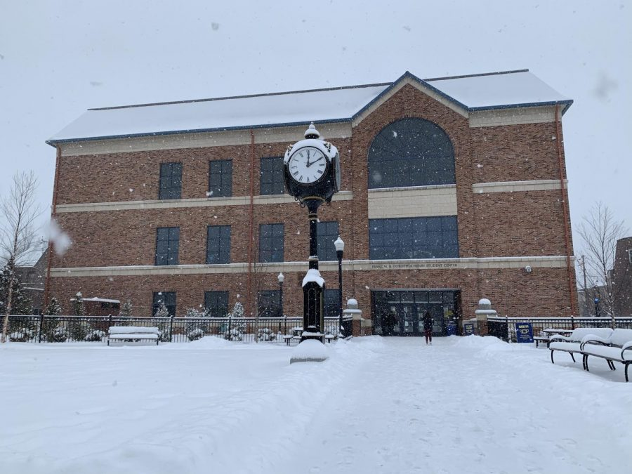 Wilkes University cancelled face-to-face classes on Feb. 1 and Feb. 2. Essential personnel and students could be seen at the Henry Student Center, primarily on the third floor cafeteria.