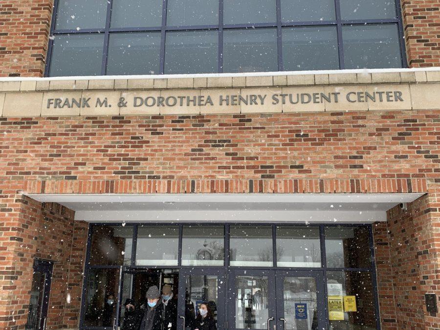 Snow flurries fell non-stop on Monday, Feb. 1.