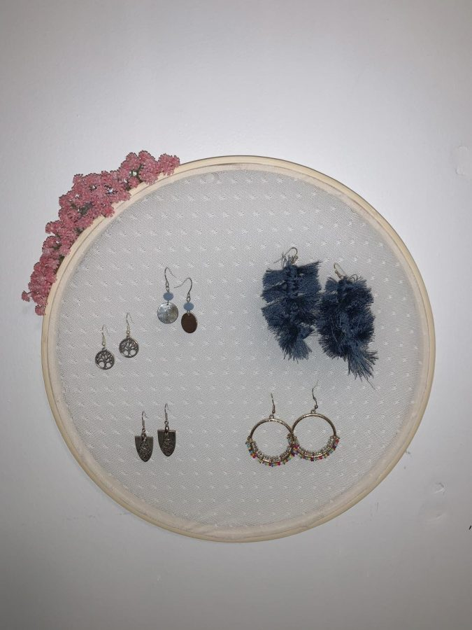 3) Once your embroidery hoop is complete, feel free to display it anywhere on your wall.